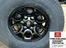 NEW OEM TOYOTA BLACK ALUMINUM SR EDITION 16 INCH WHEELS 4 PIECE SET