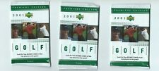 2001 UD Upper Deck GOLF 3 Pack Hobby from Rack Box 5 Cards per Pack