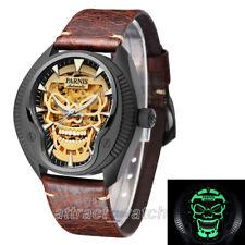 43mm Parnis Luminous Skull Miyotal Automatic Men Mechanical Watch Sapphire Glass
