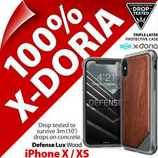 X-Doria Defense Lux Madera Militar Resistente Funda Acolchada para Apple Iphone