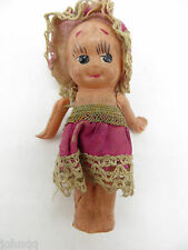 Vintage Celluloid Jointed Kewpie Girl Doll - Made in Japan - 3 Leaf Clover Mark