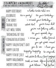Crazy Talk Tim Holtz Stampers Anonymous Cling Mounted Rubber Stamp CMS236