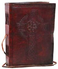 Celtic Cross leather Book of Shadows ~ Wicca Pagan Magick