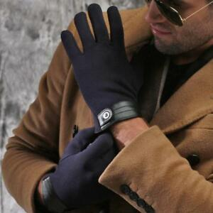Winter Spring Touch Screen Gloves For Men Stretch Cotton Wrist Plush Comfort