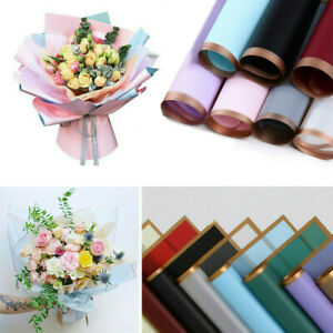 20PCS Waterproof Flower Gift Wrapping Paper Florist Bouquet Packaging Wedding UK