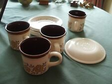 biltons cup and saucers yellow floral pattern