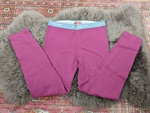 Icebreaker Merino Midweight Base Layer Pants Bottoms Pink Youth 7-8 Years