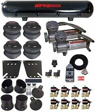 """Air Suspension Kit w/ 1/2"""" Valves Chrome 7 Switch Pewter AirMaxxx 1958-64 Impala"""