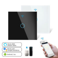 1/2/3 Gang Smart Light Switch Home WiFi Touch Wall Panel For Alexa Google APP 1X