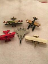 Hallmark Legends In Flight lot: Red Baron, Wright Flyer, F-14A Tomcat, Curtis S
