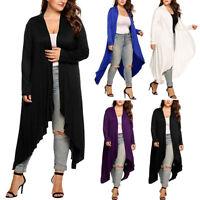 L-3XL Ladies Women Long Cardigan Loose Sleeve Outwear Jacket Blouse Coat Tops