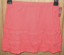 J Khaki Sunset Pink Freeze Ruffled Tiered Skirt - Kids Medium (9-10) - MSRP $22