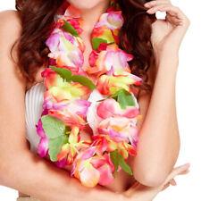 Robe fantaisie hawaïen LEI GARLAND Rainbow Floral Collier Nouveau par hawaiin Smiffys