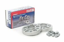 H&R 25mm Silver Bolt On Wheel Spacers for 2011-2016 Fiat Abarth 500