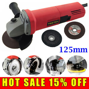 850W 125mm Power Electric Angle Grinder Sander Wood Metal Cutting Grinding