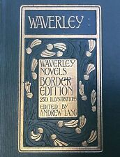 Belle Reliure Arts &Crafts Art Nouveau 1900 Walter Scott Waverley Vol.1 A. Lang