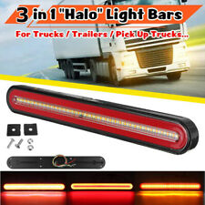 24V 126LED Truck Trailer Flowing Brake Turn Signal Rear Tail Lights Side Marker