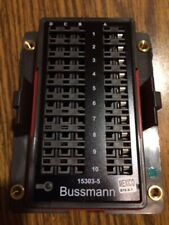 EATON's Bussmann Series 15303-5-2-4 Mini Fuse Panel 10 Mini Fuses Cover Included