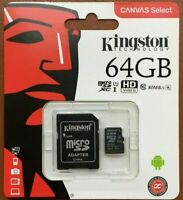 Kingston Micro SD 64GB SDHC Memory Card Mobile Phone Class 10 With SD ADAPTER