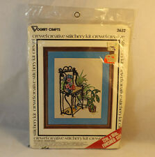 Vogart Crafts Crewel Creative Bakers Rack Stitchery Kit 2632 Vintage NIP 1977