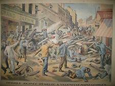VILLENEUVE-SAINT-GEORGES EMEUTES COLLOQUES REVAL JOURNAL LE PETIT PARISIEN 1908
