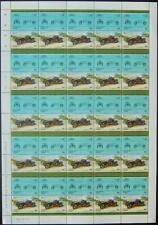 1908 SIZAIRE NAUDIN Car 50-Stamp Sheet (1985 Nukulaelae TUVALU)
