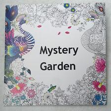 English Adult Secret Garden mystery Garden Treasure Hunt Coloring Book