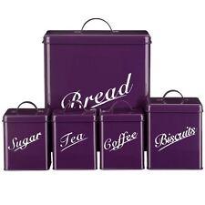 5 Pezzi Filtro Set Purple Cestino di pane Zucchero Caffè Tè Biscotti da casa SCONTO