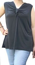 Front Knot sleeveless plus top.New shipping from usa.