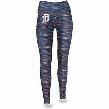 Women's Majestic Navy/Orange Detroit Tigers Space Dye Leggings