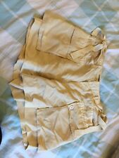 Pale Yellow Cream Shorts Silk Ralph Lauren 6 New With Tags Size 10 - 12