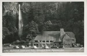 Multnomah Lodge And Falls ~ Columbia River Highway Oregon OR ~ RPPC Postcard