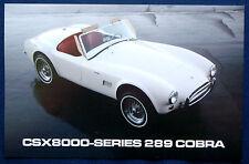 Prospekt brochure Datenkarte Shelby CSX 8000-Series 289 Cobra Roadster (USA)