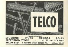 1953 Telco Ltd Studding Newman St London Ad