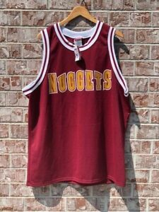 Vintage Majestic Denver Nuggets Maroon Blank Authentic Jersey Mens 2XL (52) RARE
