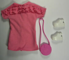 Barbie Deluxe Fashionista Gift Set Pink T-Shirt Dress Purse Shoes Doll Clothes