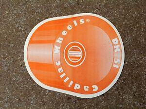 Authentic and Vintage 70's  skateboard sticker Cadillac Wheels DK 51 Orange