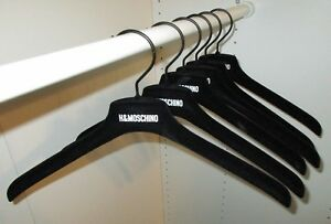 MOSCHINO H&M 6 PIECES OF BLACK VELVET CLOTHES HANGERS NEW