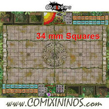 Fantasy Football - 34 mm LIZARD ROLLABLE GAMING MAT for Blood Bowl - Large Size