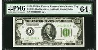 $100 1928A Federal Reserve Note Kansas City PMG 64 EPQ Choice Uncirculated