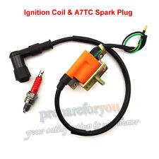 Racing Ignition Coil Spark Plug For ATV Quad 50 90 110cc Lifan Taotao Roketa
