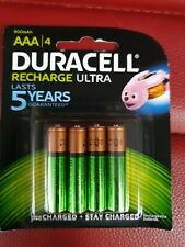 Duracell Ultra AAA Triple A Size 900mAh Rechargeable Battery Batteries 4pk