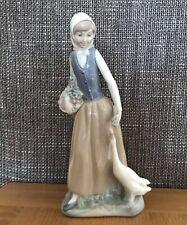 Vintage Nao by Lladro Figurine - Girl Feeding Geese - Free P+P