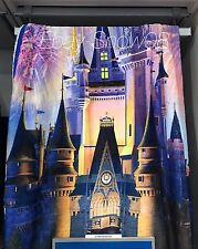 Disney Park Throw Blanket Cinderella Magic Castle Fireworks New With Tags