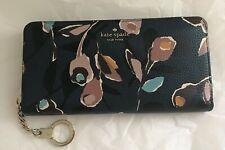 NWT Kate Spade Neda Zip Around Wallet Briar Lane Paper Rose Blue Multi WLRU5526