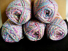 "5 Skeins---> ""TOFUTSIES"" Beautiful multi-colored YARN-5 IN A DEAL!  Don't MISS !"