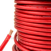 25 Ft 4 Gauge Red Power Wire Super Flexible Cable Car Audio Ground Stranded