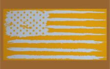 Tattered American Flag Tumbler Stencil, High Heat Vinyl  Cerakote Duracoat