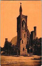 1916. ST JOHNS EPISCOPAL CHURCH. ELKHART, IND. POSTCARD s2