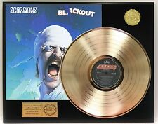 SCORPIONS BLACKOUT GOLD LP RECORD LIMITED EDITION DISPLAY